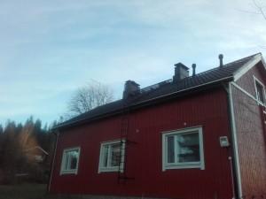Omakotitalo valmis katto